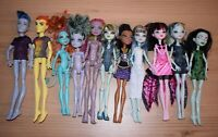 11 x Monster High Dolls 2008 - 2015 Mattel Draculaura Ghoul Spirit Toys Bundle