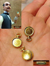 M00028 MOREZMORE 3 Mini 1:6 1/6 Scale Doll Pocket Watch Casing Cabochon Prop A60