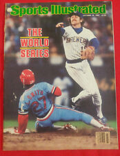 1982 MLB WORLD SERIES MILWAUKEE BREWERS ROBIN YOUNT Sports Illustrated NO LABEL