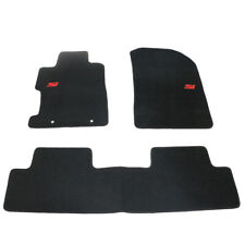 For 06-11 Honda Civic 2Dr 4Dr Floor Mats Carpets Front & Rear Nylon Black w/ Si