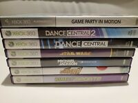 Lot of 7 Xbox 360 Kinect Games - Star Wars, Sports, Dance Central, Adventures