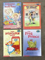 Lot of 4 Scholastic Hello Readers Level 3 - The Frog Prince, The Popcorn Shop,