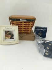 Longaberger 2001 All American Inaugural Basket Combo w Lid, Tie On New