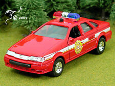 Die Cast Fire Chief Car Lights & Sound O Scale 1:43 by Sonic State