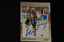 HOF MIKE MODANO 1991-92 SCORE YOUNG SUPERSTARS SIGNED AUTOGRAPHED CARD #35 STARS