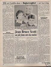 Coupure de presse Clipping 1987 Jean Bruce Scott  (1 page)