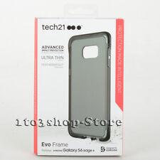 Tech21 Evo Frame Case For Samsung Galaxy S6 Edge+ Plus (Smoke Black/Clear) NEW