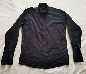 PIERRE CARDIN MENS SHIRT WITH LONG SLEEVE SIZE 15.5 (39 CM) BLACK CUFFLINKS