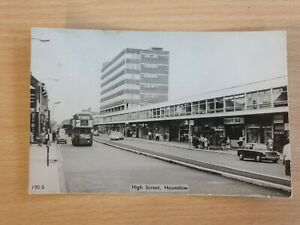 High Street - Hounslow - Wimpy - Old Real Photo Postcard 432