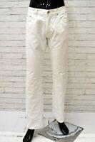 Pantalone Uomo HUGO BOSS Taglia Size 35 Jeans Pants Man Regular Cotone Bianco