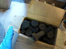 """Pack of 2 Hex Head Bolts 3/4 x 3"""" long UNF Vintage WHITWORTH New old stock"""
