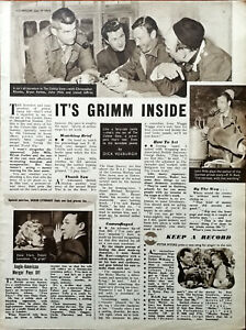The Colditz Story John Mills, Christopher Rhodes, Lionel Jeffries Article 1954