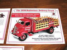1938 Budweiser Stakebed Delivery Truck Complete MIB 1:24 Danbury Mint 1996 L@@K