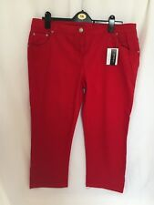 red stretch cropped jeans size 20