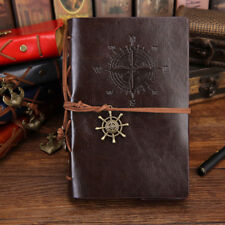 Vintage Retro Leather Cover Notebook Journal Blank String Nautical Pocket
