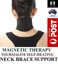 SELF HEATING TOURMALINE SELF HEATING MAGNETIC NECK WRAP BRACE HEAT THERAPY