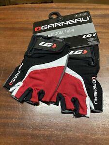 ! Garneau Biogel RX-V Small Red/Black Cycling Gloves