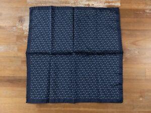 LANVIN Paris blue silk pocket square authentic