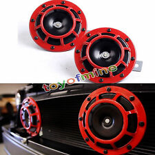 SUPER LOUD BLAST TONE GRILL MOUNT 12V ELECTRIC COMPACT CAR HORN 335/400HZ RED