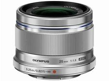 Olympus M.ZUIKO DIGITAL 25mm F1.8 Lens Silver Japan Domestic Version New