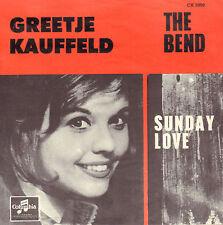 "GREETJE KAUFFELD - The Bend / Sunday Love (MEGA RARE 1966 PROMO 7"" + DUTCH PS)"