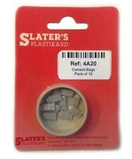SLATER'S PLASTIKARD 4A20 1:76 OO SCALE Cement Bags x 10 Unpainted Plastic Kit