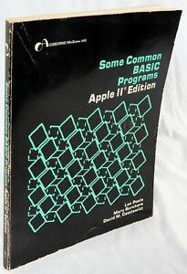 Apple II IIe IIc IIgs Some Common BASIC Programs Apple II Edition Book