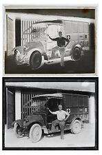 Photo négatif plaque verre voiture ambulance militaire 1910 camion
