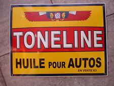 PLAQUE EMAILLEE BOMBEE TONELINE HUILE AUTO GARAGE  emailschild enamel tin sign