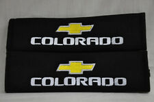 Embroidery Cool Black Seat Belt Cover Shoulder Pads Pair Chevrolet Colorado