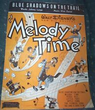 Walt Disney Melody Time' Sheet Music, 1948