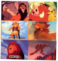 Lot de 6 CARTES du ROI LION SUPERBE N° RL018