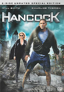 Hancock (DVD, 2008, Unrated) Main Movie Disc Only C4