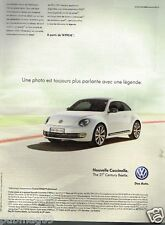 Publicité advertising 2012 VW Volkswagen Coccinelle Beetle