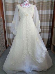 (52)Edles Damen Braut Standesamt Abend Kleid GR: 36