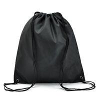 Waterproof Drawstring Cinch Sack Backpack School Tote Gym Beach Travel Sport Bag