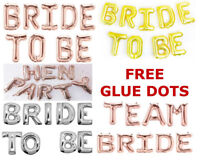 """BRIDE TO BE Banner  Rose Gold colour Balloons 16"""" Foil Balloons Wedding Parties"""