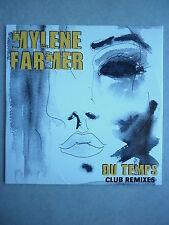 Mylene Farmer cd Promo Du Temps club remixes