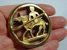 RARE BROCHE Signée Arthus BERTRAND  Bronze Doré  PARIS  VINTAGE BROOCH