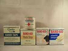 Vintage Johnson & Johnson Red Cross Tape Vintage Band-aid Tins Curity Doctors