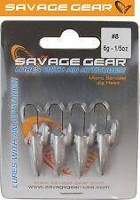 Savage Gear LRF Micro sandeel Jigghead - 4 x 6g Jighaken für Gummiköder