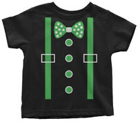 Green Tuxedo Toddler T-Shirt St. Patrick's Day Irish Wedding Party