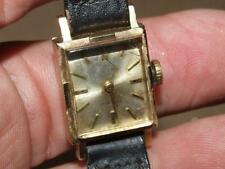 Vintage 14KT Gold Vulcain 17 Jewels Swiss Made Ladies Wrist Watch Working