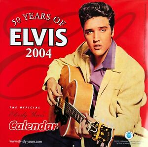 Ltd Edition 2004 50 Years Of Elvis Presley official calendar