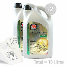 Car Engine Oil Service Kit / Pack 10 LITRES Millers Oils XF LONGLIFE 5w-40 10L