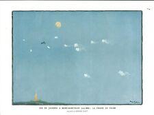 Document ancien fin de journée à Mont-Saint-Eloy la chasse 1915 issu de magazine