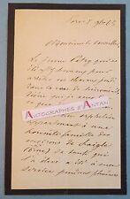 L.A.S 1865 Joseph Ernest PORTALIS Conseil d'Etat Patry Laigle Député Var lettre