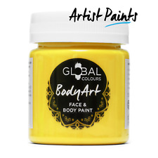 Yellow BodyArt 45ml Face Body Paint Jar