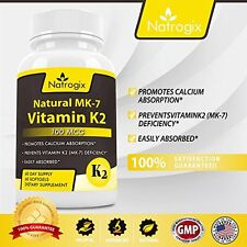 Natural Vitamin K2 MK-7 Supplement - Promotes Bone Health + Reduce Arterial + 60