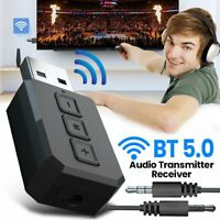 2 in 1 Bluetooth 5.0 Audio Streaming Receiver Transmitter USB AUX Stereo Adapter